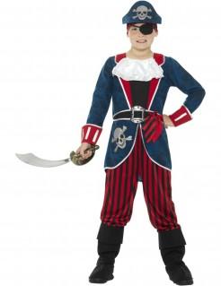 Piraten-Jungenkostüm blau-rot