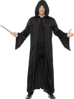 Mittelalter-Umhang Zauberer-Mantel schwarz