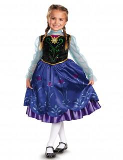 Frozen Anna Kinderkostüm Lizenzware schwarz-blau