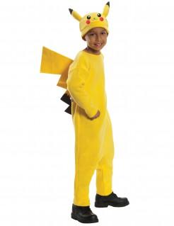 Kostüm Pikachu Pokémon™ für Kinder gelb-schwarz