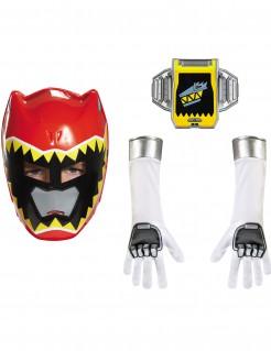 Power Rangers Kinderkostüm-Set rot-gelb-weiss
