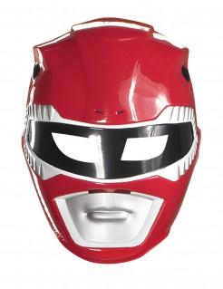 Power Rangers Kinder-Maske rot-schwarz-weiss