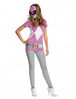 Power Rangers Damenkostüm Lizenzartikel rosa-grau