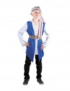 Jungen Piratenkostüm blau-weiss