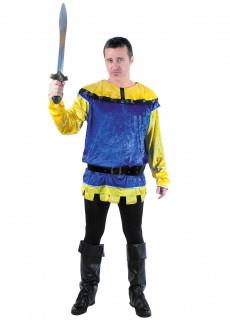 Erwachsenentunika Ritter - blau/gelb
