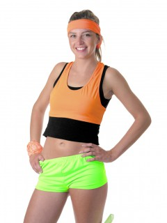 Damen-Mini-Short neongrün