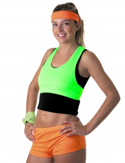 Kurzes Damen Top in Neongrün