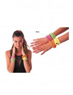 Wickel-Armband 80er 90er Jahre neonpink