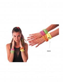 Wickel-Armband 80er 90er Jahre neongelb 41 cm