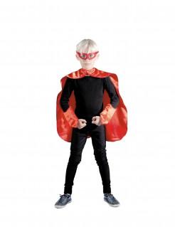 Superhelden-Kinderkostüm rot