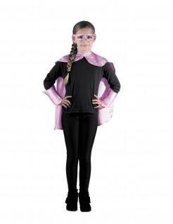 Superheldin-Kinderkostüm rosa