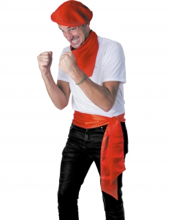 Satingürtel rot