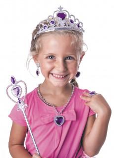 Accessoireset Prinzessin silber-violett