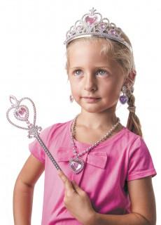 Mädchen Accessoires-Set Prinzessin rosa