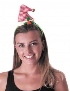 Zipfel-Weihnachtsmütze Haarreif rot-weiss