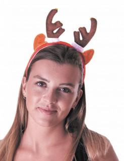 Rentiergeweih Weihnachts-Haarreif braun