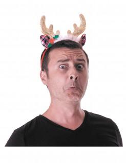 Rentier-Haarreif Kostümaccessoire Weihnachten bunt