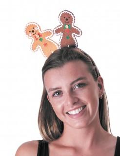 Lebkuchenmann Weihnachts-Haarreif braun