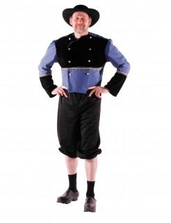 Historisches Bretonenkostüm schwarz-blau
