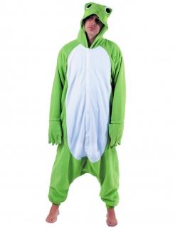 Lustiger Frosch Einteiler-Kostüm für Herren grün-weiss
