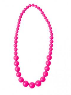 80er-Jahre Perlenkette neonpink