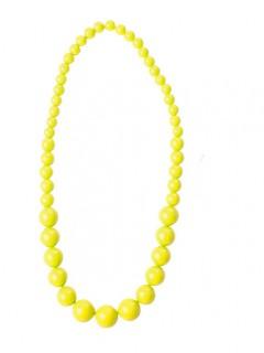 80er-Jahre Perlenkette neongelb