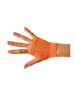 Kurze Netzhandschuhe orange