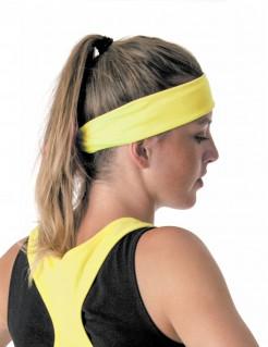 80er-Jahre Schleifen-Haarband gelb