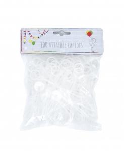 Luftballon-Schnellverschlüsse Luftballon-Zubehör 100 Stück gelb
