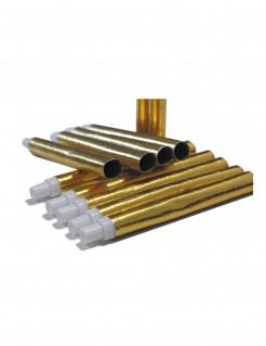Blasrohre Scherzartikel 6 Stück gold 18cm
