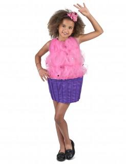 Cupcake-Kinderkostüm rosa-lila