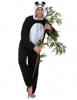 Panda-Herrenkostüm schwarz-weiss