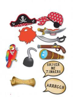 Pirat-Set für Fotos 12-teilig bunt