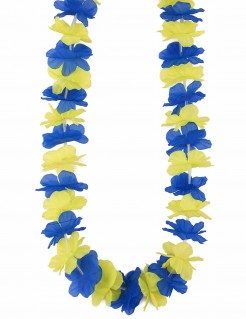 Hawaii Blumenkette Blütenkette gelb-blau