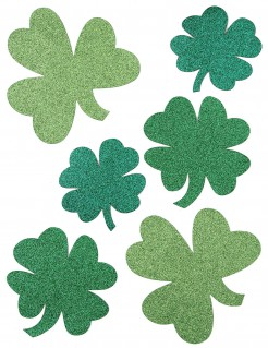 Kleeblätter Glitzer St. Patrick