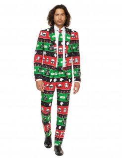 Star Wars™-Anzug mit Helm-Motiven Opposuits™-Herrenanzug rot-grün-schwarz
