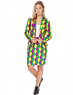 Opposuits™ Damenkostüm Harlequeen Business bunt
