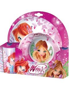 Winx Club - Geschirr-Set für Kinder, rosa