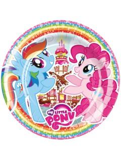 Party Pappteller Lizenzartikel My Little Pony 8 Stück bunt 23 cm