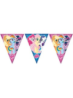 My Little Pony™ Wimpelgirlande Party-Zubehör bunt 360cm