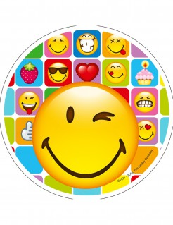 Smiley-Tortenaufleger 21 cm