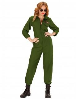 Jet-Pilotin Damenkostüm khaki