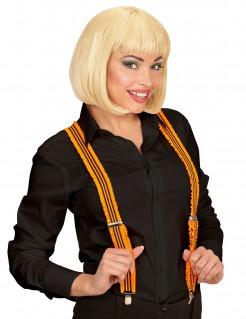 Rüschen Hosenträger für Erwachsene orange