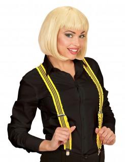 Rüschen Hosenträger für Erwachsene gelb