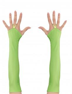 Lange Armstulpen für Damen grün
