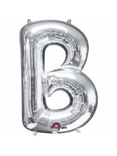 XXL Party Aluminium Luftballon Buchstabe B silber 58 x 86 cm