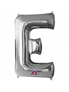 XXL Party Aluminium Luftballon Buchstabe E silber 53 x 81 cm