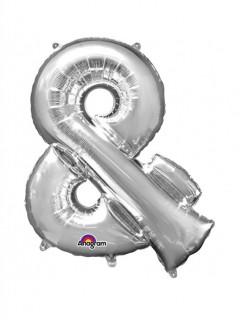 XXL Party Aluminium Luftballon Symbol & silber 76 x 96 cm