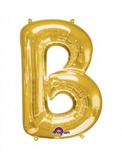 Party Dekoration Deluxe Aluminium Ballon Buchstabe gold 58 x 86 cm