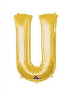 Party Dekoration Deluxe Aluminium Ballon Buchstabe U gold 58 x 83 cm